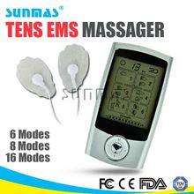 Sunmas HOT home use medical equipment digital pulse massager 8 modes