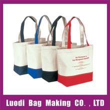 Factory wholesale reusable trendy cotton shopping bag,canvas shopping bag,cotton tote bag
