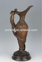 Casting antique brass vase,bronze craft