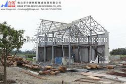 log cabins prefab house,luxur prefabricated villa design , green house
