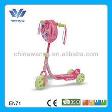 Pink PVC 3 wheel pro kick scooter for sale EN71 approval