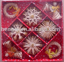 handmade wheat Straw Ornament craft (00065)