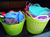 28L Colorized Flexible Plastic Household Laundry Basket With Comfortable Handles