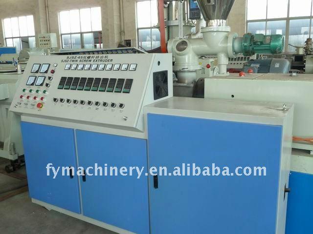 la máquina de extrusión para tuberías de pvc