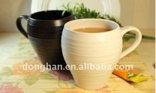 eco-friendly high grade black and white ceramic mugs for coffee or tea
