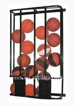 S6237 basket ball wall storage rack - hold 16 basketballs