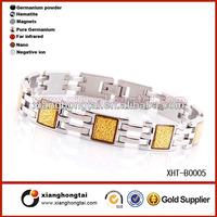 Titanium gold foil bracelets bio magnetic healing bracelets