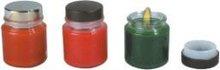 beautiful colored candle tin