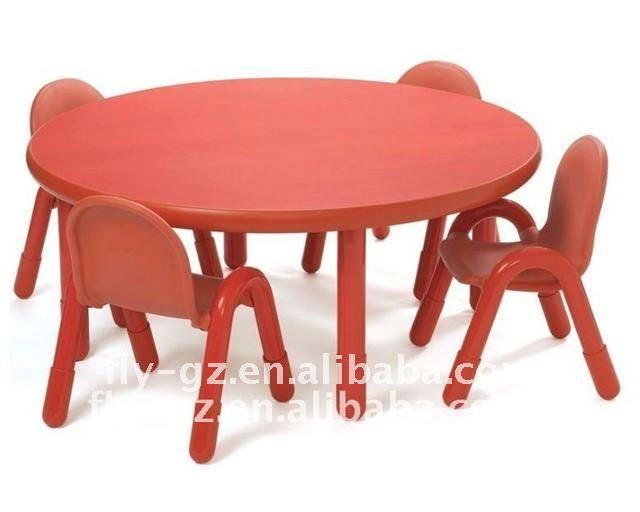 Enfants de haute qualit table ronde en bois et une chaise for Chaise pour table ronde