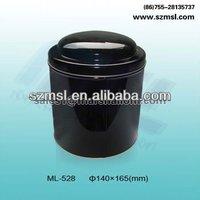 black tin box,tin box with pvc window,tie packaging box