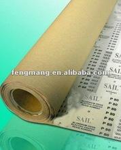 E - abrasiva rollo de papel para discos de lijado