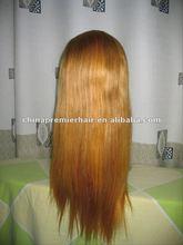 100%huaman hair light blue full lace hair wig