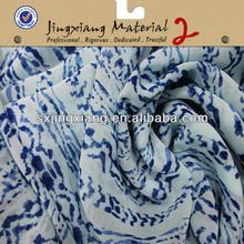 100% Polyester Printed Chiffon Dress Fabric fashion patterns printed chiffon fabric blouses Turkish evening dress