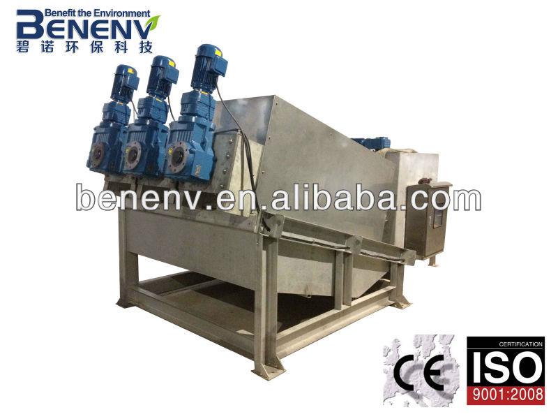 Deshidratador de lodos de la prensa de filtro para la industria de tratamiento de aguas residuales( mds413)
