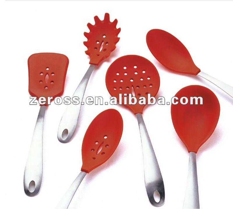 Moda de silicona utensilios de cocina utensilios de cocina - Utensilios de cocina de silicona ...