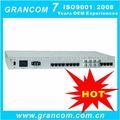 De fibra óptica para la voz 32 + 2 ethernet + 4 e1 +2 com ( rs232/422/485 ) fibra óptica multiplexor de voz