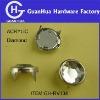 acrylic Diamond prong nailhead rivet for garment
