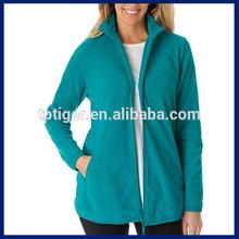 2015 Trendy House Wear Simple Design Women's Plus Size Fleece Jacket