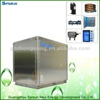 Big evaporator heating / cooling pump house air/water heater
