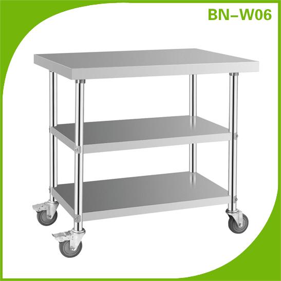 Cocina mesa de trabajo con ruedas bn w06 bancos de for Carritos con ruedas para cocina