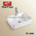 Arredondado círculo de cabelo do salão de beleza lavar sink bacia pz-6068
