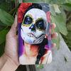 FASHION human skeleton skull hinge clutch wallet hard case supplier