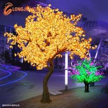 จำลองสูงนำต้นไม้ไฟกลางแจ้ง/เมต้นไม้สำหรับตกแต่งถนน