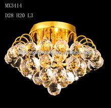 Gold crystal sphere chandelier