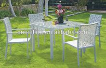 New Design 4 people seat garden fancy rattan furniture