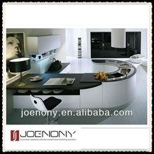Joenony U-Shape White Kitchen Cabinet