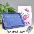 13001 Book style flip PU leather case for ipad mini