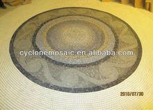 Bisazza mosaic ceramic tile floor medallions for wall decoration, mosaic medallion