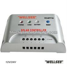 Wellsee WS-MPPT30 MPPT controller 12v 24V 30A solar charge voltage regulator