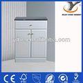 Alto brilho chão- montado pvc armários de banheiro com bancada de mármore