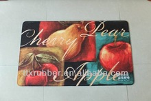 floor mat printing door mat rubber flocking door mat manufacturer Rug