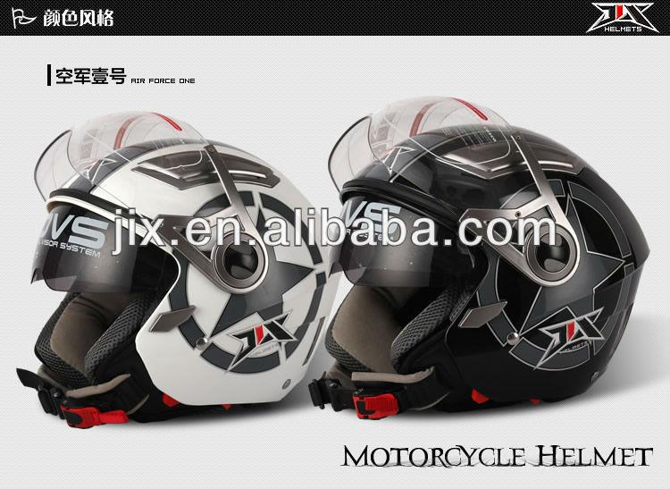 2013 New open face motorcycle helmet with duble visor helmet