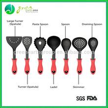 2015 Hot Sale food grade silicone kitchen tool set/silicone kitchen accessories/ colorful bbq silicone kitchen utensil set