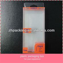 PVC /PET custom printing plastic packaging box with hanger hole