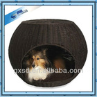 SHANGDI products black PP rattan dog house