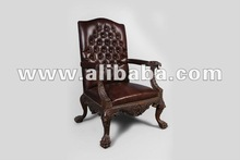 High Quality English Reproduction Wood Antique Arm Chair