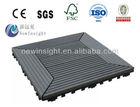 PE WPC DIY Deck tiles Interlocking deck tiles for corridor,garden with CE SGS FSC ISO wood plastic composite Decking tiles