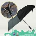 Los nuevosinventos 21 pulgadas de metal plegado paraguas de la lluvia, tela pg el anuncio promocional doble de metal fuerte paraguas de la lluvia