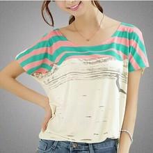 Custom Women loose modal t shirt printing