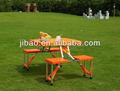 marke neue outdoor tragbare falten Picknick campingtisch mit 4 Stühlen orange
