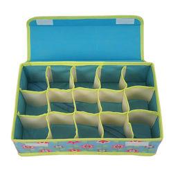 Flowers Series 15 Cells Underwear Socks Storage Box