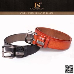 Hot Selling Men's Cowhide Leather Belt with Rivet