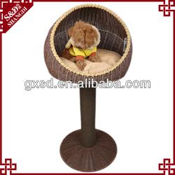 handmade eco-friendly plastic wicker pet house with cushion