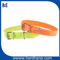 orange fluo PVC dog collar waterproof fluorescent PVC dog collar