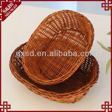 rattan paglia cestino del pane artigianale handmade