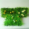 garden decoration / cheap landscaping artificial grass turf with flowers